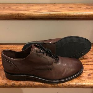 Frye men's brown leather oxfords sz 10